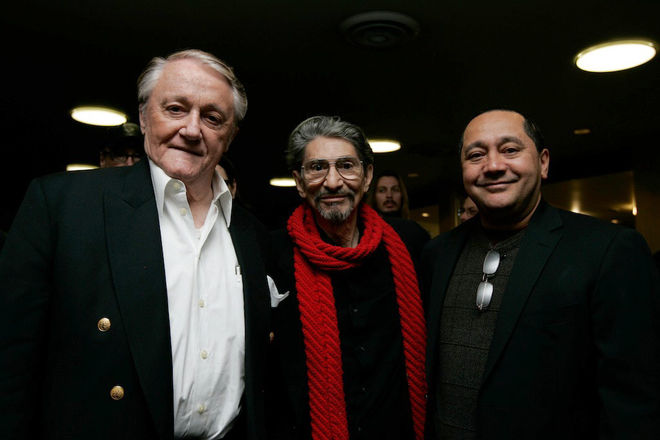I: Robert Vaughn, Pablo Ferro, Allen Ferro at Bullitt tribute screening