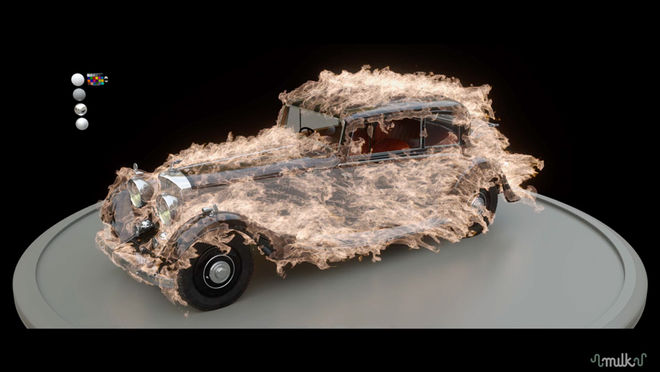 IMAGE: Milk VFX car on fire
