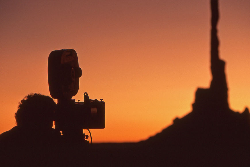 IMAGE: Shooting at sunset in the desert