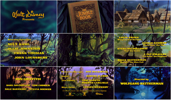 VIDEO: Title Sequence – The Jungle Book (1967)