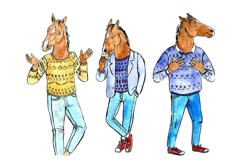 IMAGE: Early sketches of BoJack