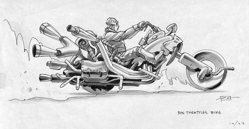 IMAGE: Full Throttle (1995) Ben Throttle Bike Concept