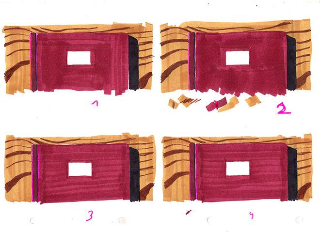 IMAGE: Animation test - still frames of sketchbook