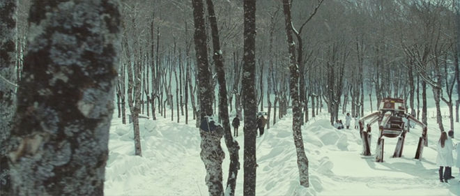 IMAGE: Still from Eva 2 – Snow landscape and big robot