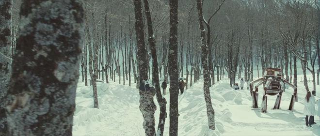 IMAGE: Still from Eva 2 – Snow landscape and big robot