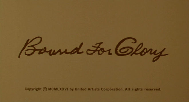 I: Bound for Glory title card