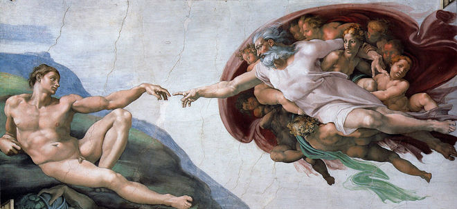 IMAGE: The Creation of Adam by Michelangelo