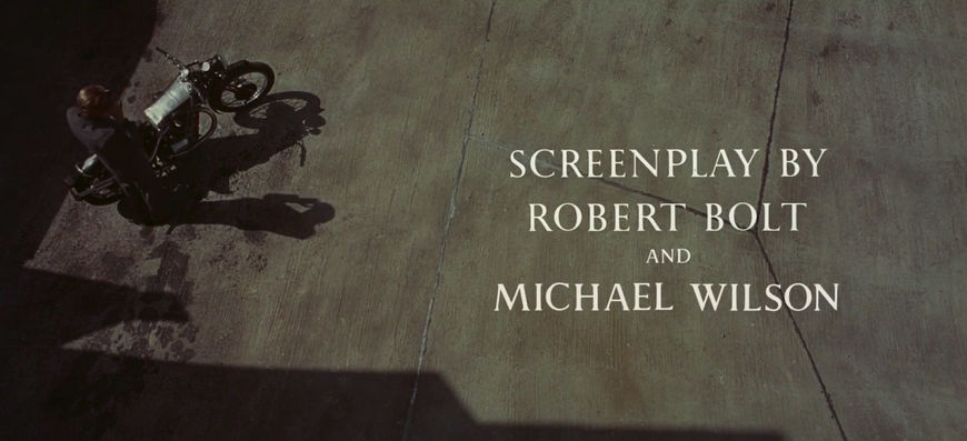 IMAGE: Lawrence of Arabia (1962) Restored Writing Credit