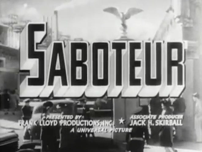 VIDEO: Trailer – Saboteur (1942)