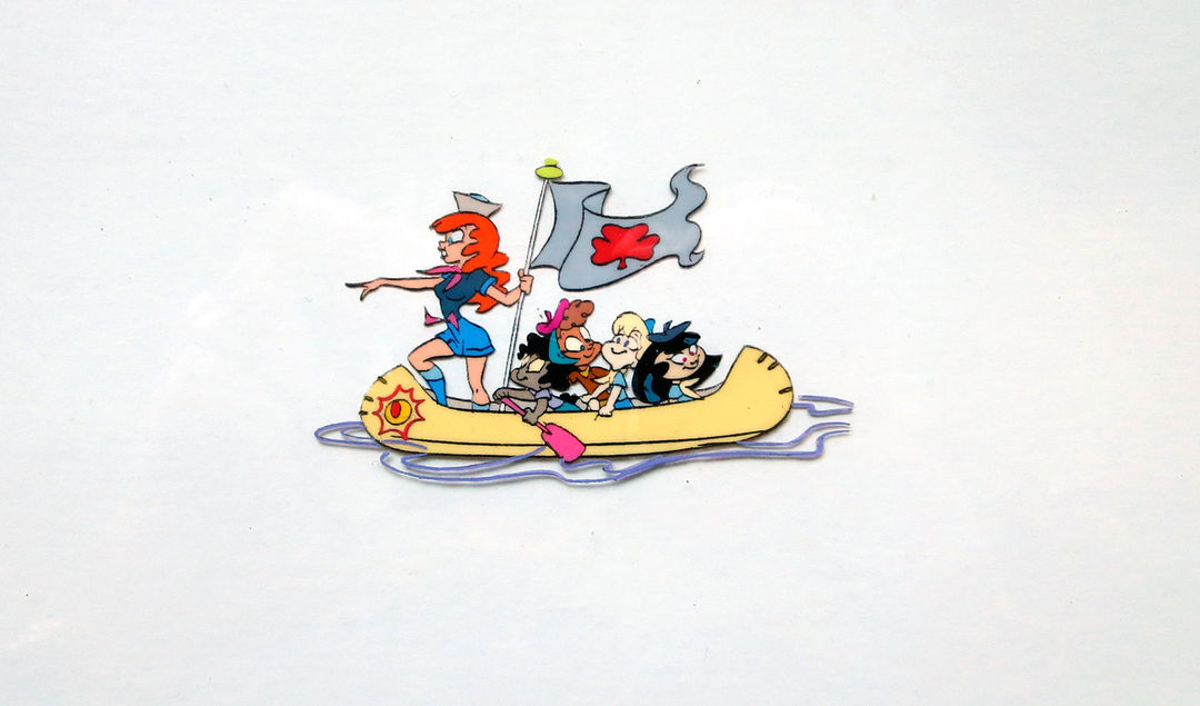 IMAGE: Animation cel – girls in canoe