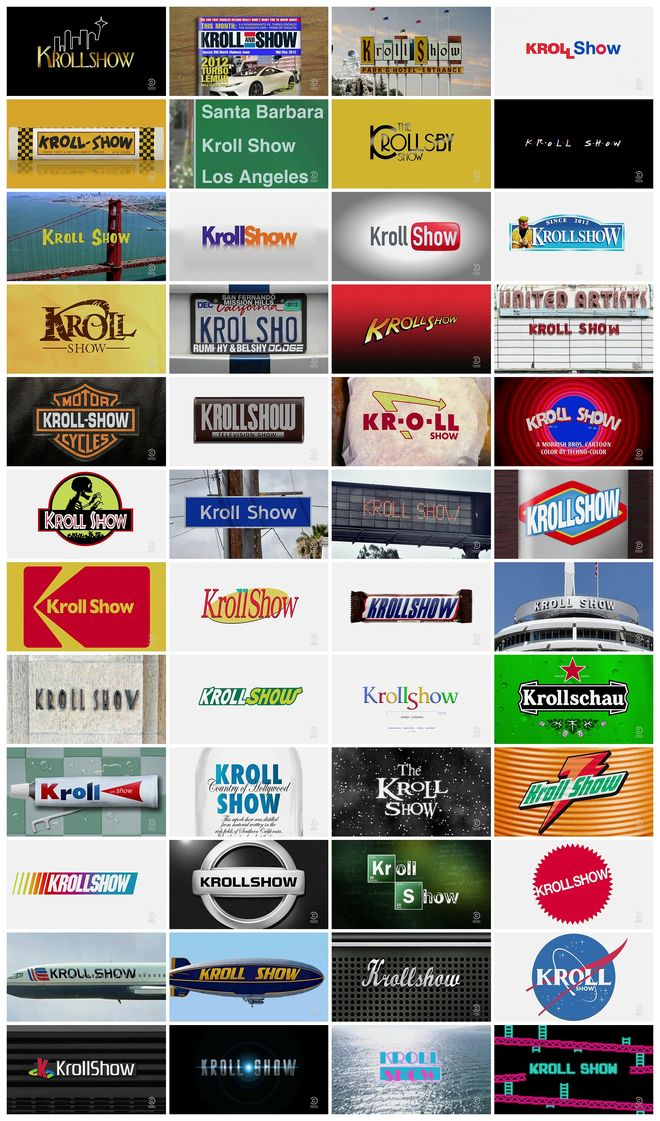 Kroll Show - all title cards