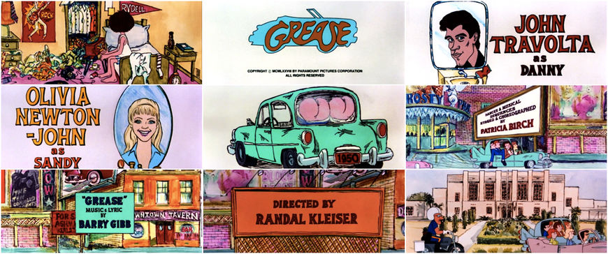 VIDEO: Grease - title sequence left