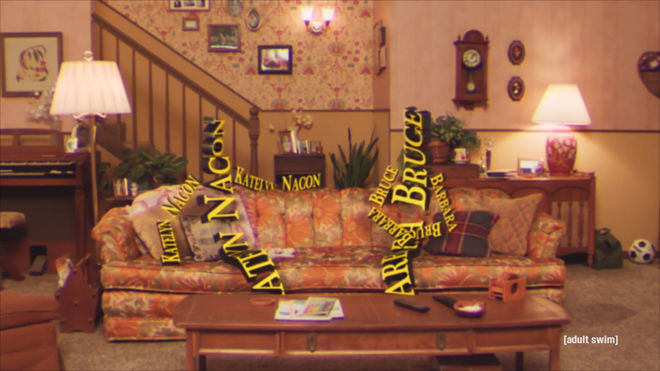 IMAGE: anthropomorphic credits sitting on the couch