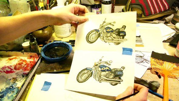 United States of Tara - Motorcycle sketch