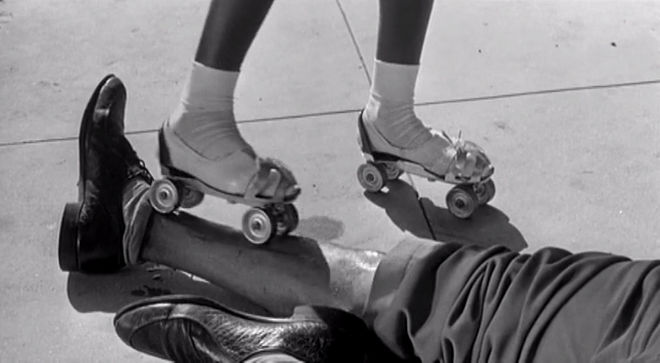 IMAGE: Rollerskate girl being a creep