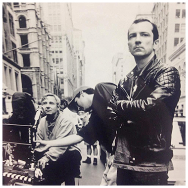 IMAGE: Hackers Director Iain Softley and Director of Photography Andrzej Sekula on set of Hackers photo by James Bridges
