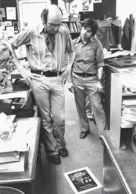 IMAGE: Milton Glaser and Walter Bernard at NY mag, 1970s