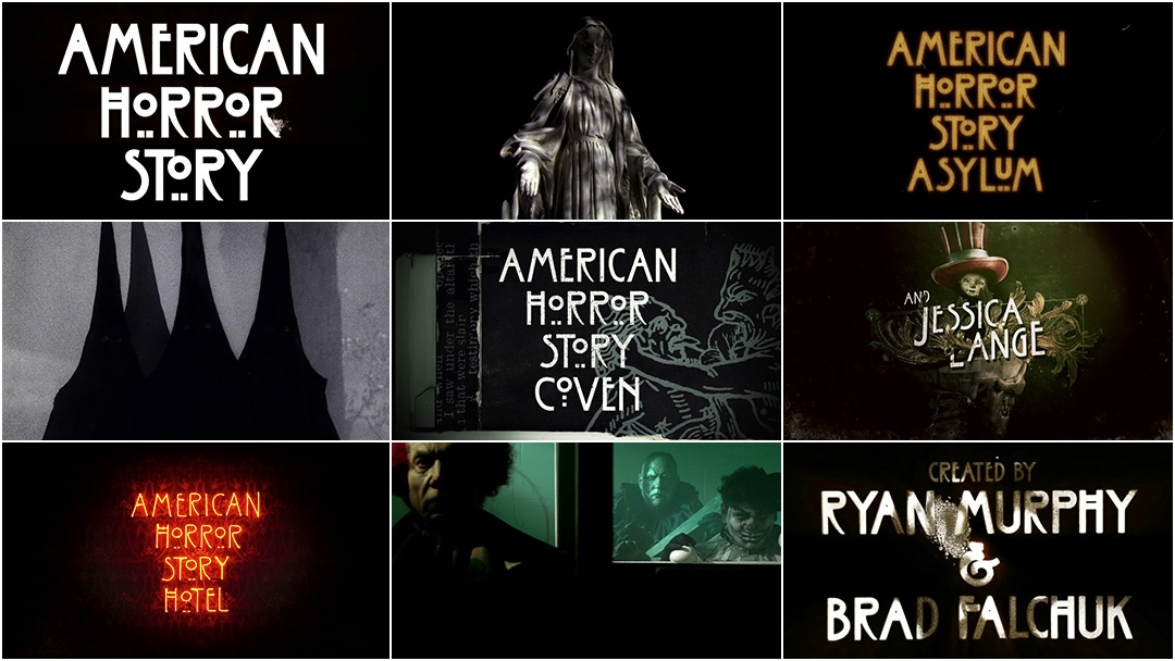 American Horror Story: 7 Seasons of Title Design